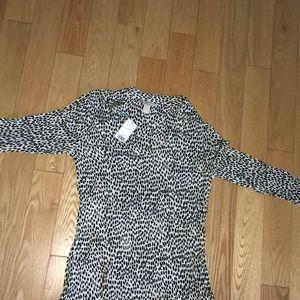 Women's Leopard Print Long Sleeve Top